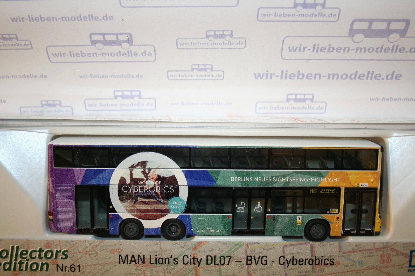 Rietze, 67774, MAN DL Lions City, BVG Bus, Cyberobics, neu, OVP  | Marke