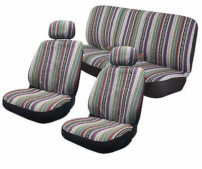 Baja Inca Saddle Blanket Seat Covers Front Bench Set CS1