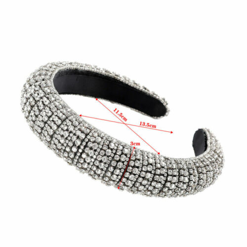 Details about  /Women Baroque Crystal Headband Gem Embellished Hair Band Hair Hoop Accessories