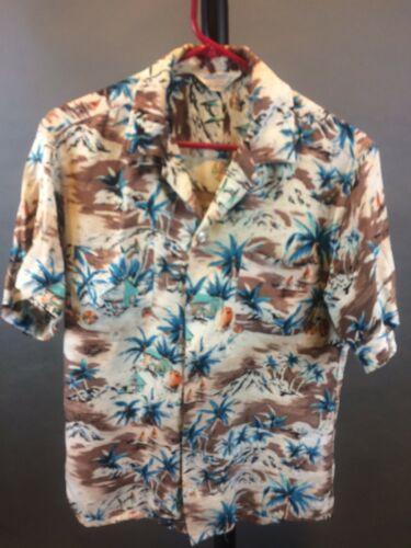 """Vintage 1950's """"Aloha Shirts"""" Men's Rayon Shirt"""