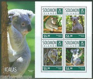 SOLOMON-ISLANDS-2014-KOALAS-SHEET-MINT-NH