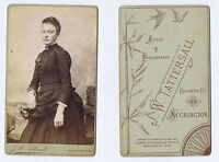 CDV Young Victorian Lady Carte de Visite Photograph by Tattersall of Accrington