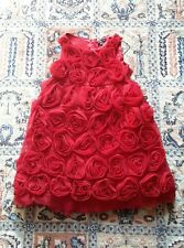 BABY GAP Russian Red rosette dress size 5T
