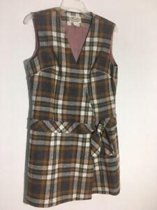 Adorable-Plaid-Wool-Mod-Vintage-Dress
