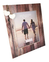 """Wedding Honeymoon Holiday Couples Mr Mrs Photo Picture Frame 2 Hearts Gift 8x10"""""""
