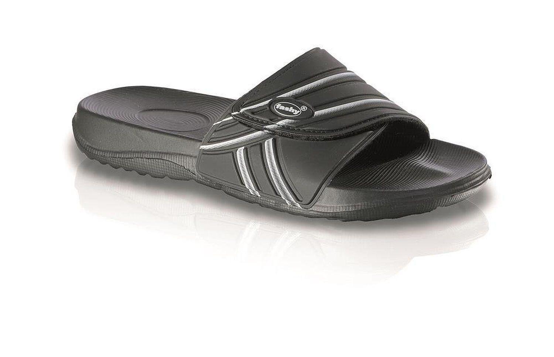 fashy Klettverschluß 7559 Aktiv-Pantolette Ultraleicht Komfort-Fußbett Klettverschluß fashy schwarz bc77b1