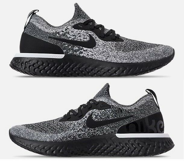 NIKE EPIC REACT FLYKNIT MEN'S RUNNING BLACK - WHITE AUTHENTIC NEW IN BOX  SIZE