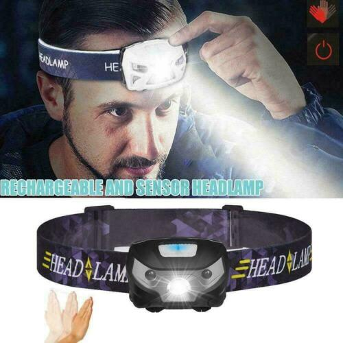 Super Bright Waterproof Head Torch Headlight USB Rechargeable Headlamp Hot U8H0