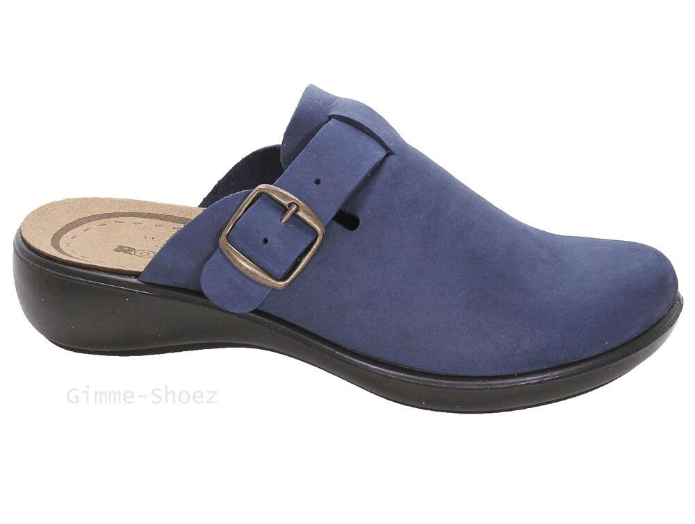 Romika Pantoffeln Hausschuhe IBIZA HOME blau jeans Leder lose Einlagen NEU