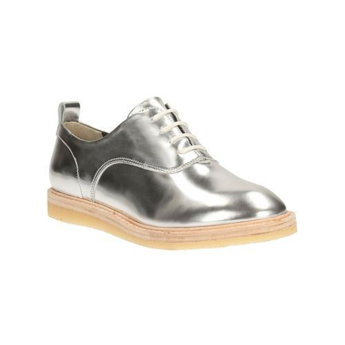 Clarks ORIGINALS Womens Empress Lo Lace Up Silver Leather     Size 3.5 UK