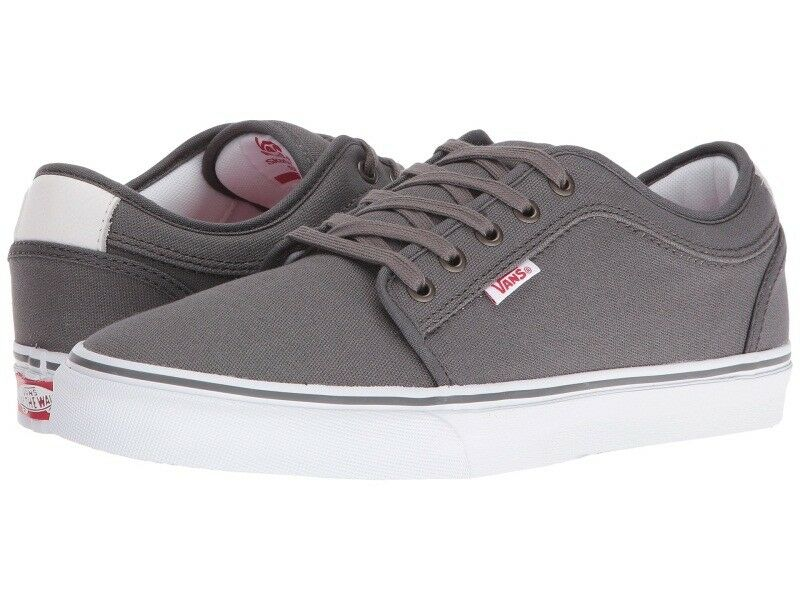 VANS CHUKKA LOW PEWTER SKATE blanc rouge hommes SKATE PEWTER Chaussures SIZE 7 b345d2