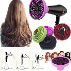 Silicone-Salon-Professional-Universal-Diffuser-Foldable-Travel-For-Hair-Dryer-AU