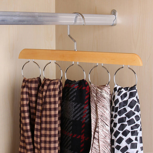 Tie Rack Hanger Non Slip Belt Compact Closet Holder Organizer Scarf Hook