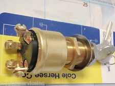 IGNITION SWITCH BRASS COLE HERSEE 12 M712BP 4 POSITION ACC STARTER HEAVY DUTY