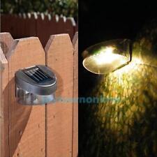 Waterproof Solar Power Light 3 LED Auto Sensor Outdoor Wall Garden Fence Lamp
