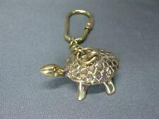 Massiv  Messing  Schlüsselanhänger  Schildkröte   4,5 cm