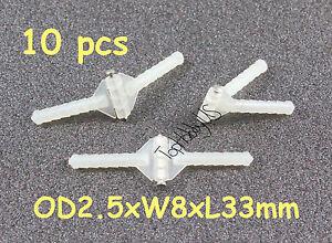 Details about 10 pcs Super Light Nylon Pivot & Round Hinges D2 5xW8xL33mm  RC Plane (US SELLER)