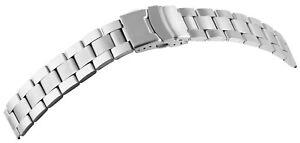 Edelstahl-Gliederband-Uhrenband-Silber-18-mm-Faltschliesse-Ersatzband-X8200029180