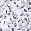 Lot-50-200-Perle-Rond-7mm-Blanc-Chiffre-Braclet-Porte-cle-7-x-4mm miniature 5