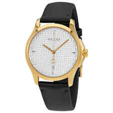 a092338d19e Gucci G Timeless Automatic Black Dial Leather Strap Men s Watch Item ...