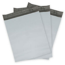 "Lot Of 25,50,100,200-19/"" X 24/""  Poly Mailer  White Shipping Bag Plastic 2.35MI"