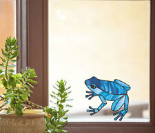 """CLR:WND - Dart Frog - Stained Glass Vinyl Window Decal ©YYDC (4""""w x 3.75""""h)"""