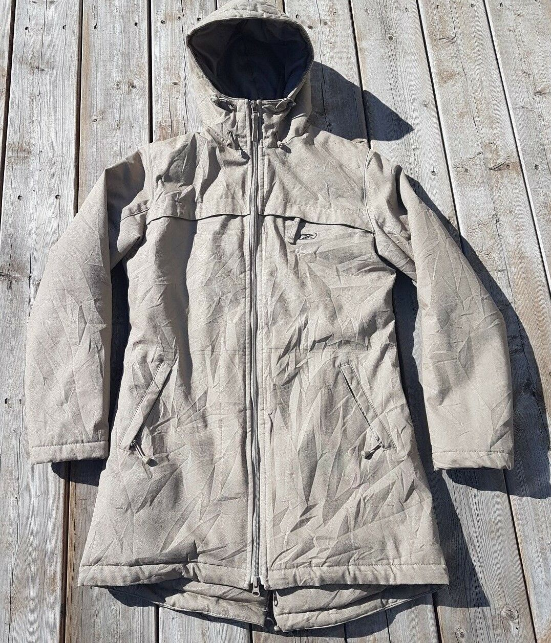 REEBOK Outdoor Hooded Insulated Winter Snow Parka Brown Tan Sz US M