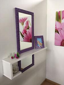Mobile moderno ingresso design con specchio e consolle entrata anche su misura v ebay - Consolle con specchio per ingresso ...