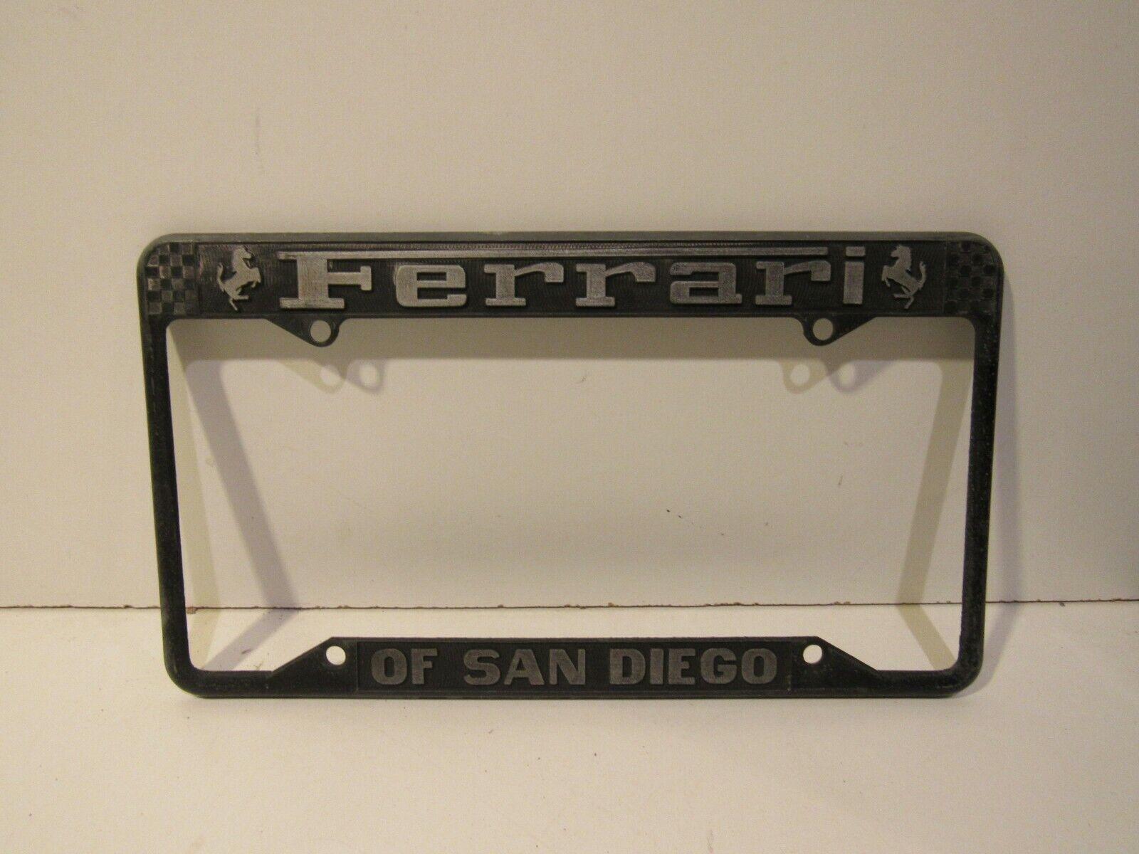 Ferrari Of San Diego Metal Dealership License Plate Frame Old Ebay