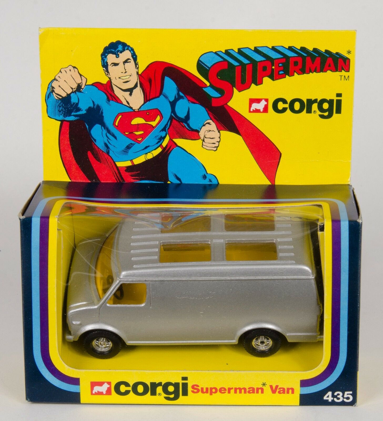 CORGI 435 RARE pré-production Superman van. ORIGINAL 1979. no étiquettes ou Lab