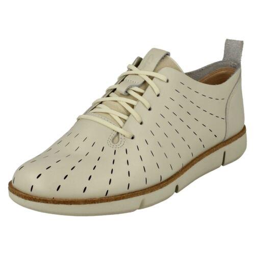 para White Clarks mujer Tri con Clarks cordones Zapatos Etch twqWTf68