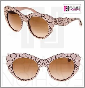 ca95dada98e Dolce   Gabbana Mamas Brocade Powder Brown Mesh Texture Sunglasses ...
