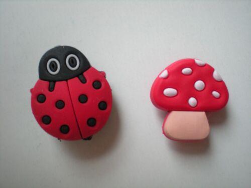 Clog Shoe Charm Plug Button Holey Sandal Jewelry Accessories Mushroom Beetle