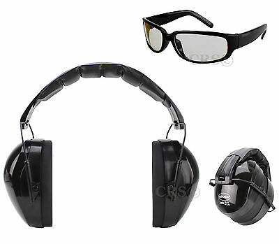 Shooting Range Earmuff Hearing Noise Reduction Ear Protection w Glasses HIGH NRR