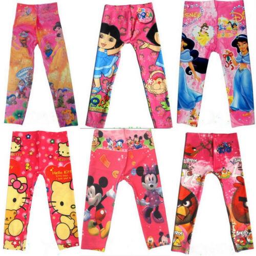 18M-7Years Dora Princess Girls Leggings Cartoon Hello Kitty Mickey Minnie