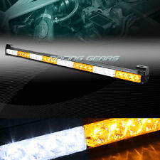 "35.5"" WHITE/AMBER LED TRAFFIC ADVISOR EMERGENCY WARNING FLASH STROBE LIGHT BAR"