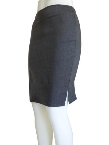 Girls School Midi Pencil Skirt Ladies Office Work Bodycon Grey Black Blu Stretch