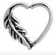 Pluma De Acero Quirúrgico Corazón Anillo de giro continuo Daith-para izquierda o derecha