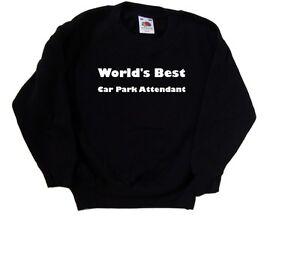 World's Best Car Park Attendant Kids Sweatshirt