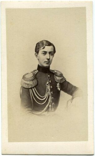 RARE RUSSIAN IMPERIAL ANTIQUES CDV CZAREVICH NICHOLAS RUSSIA ROYALTY CZAR PHOTO
