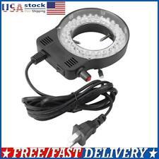 Plastic 144leds 60000lm Adjustable Microscope Ring Light Illuminator Lamp Uk