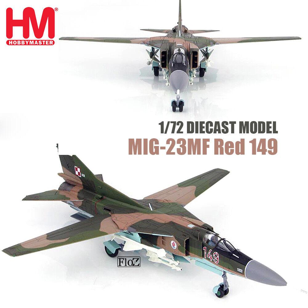 HM HOBBY MASTER MIG-23MF Red 149 1 72 diecast  plane model aircraft