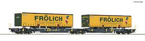 Roco-H0-76431-Doppeltaschen-Gelenkwagen-T2000-034-Froelich-034-der-WASCOSA-NEU-OVP