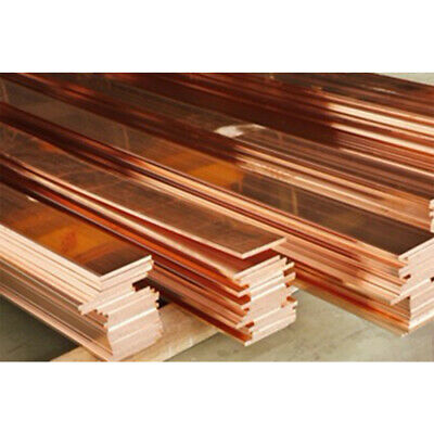 1pcs 10mm x 100mm x 200mm 99.9/% Copper T2 Cu Metal Flat Bar Copper Strip Plate