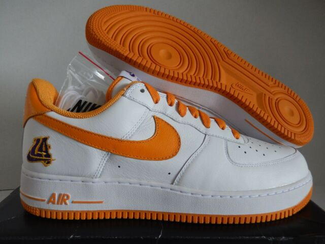 41f7af79fded5 Nike Air Force 1 Low Retro Sz 12 Lakers White Gold Af1 845053-103 Basketball