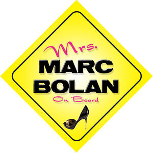 Mrs-Marc-Bolan-On-Board-Novelty-Car-Sign