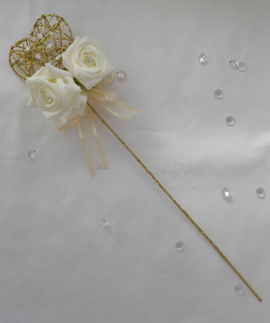 Beautiful heart or star wand wedding flower girl ribbon colour of your choice