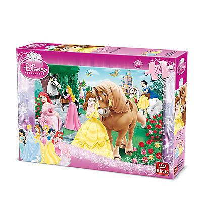 Children's 24 Piece Disney Jigsaw Puzzle - Cinderalla & Snow White 05160B