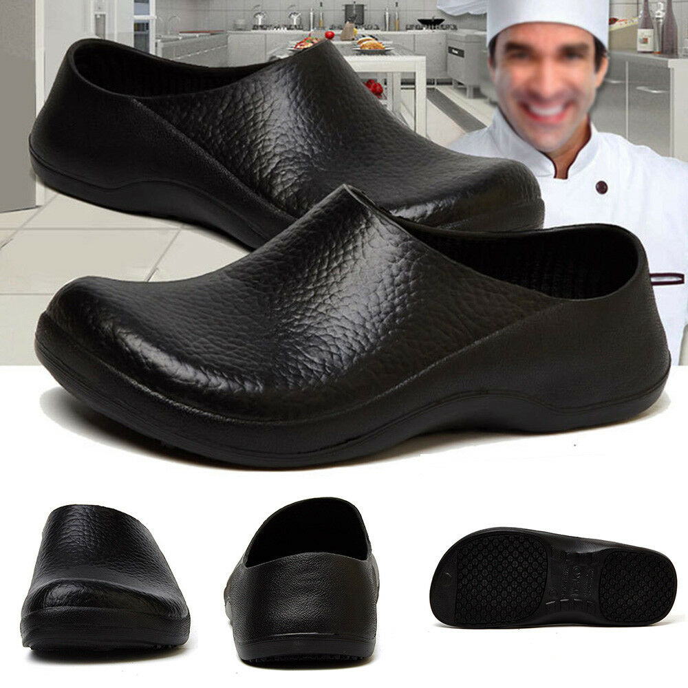Magic Uomo Non-Slip Safety Shoes Kitchen Cook Shoes Restaurant Restaurant Restaurant Water Oil Resistan 39e082