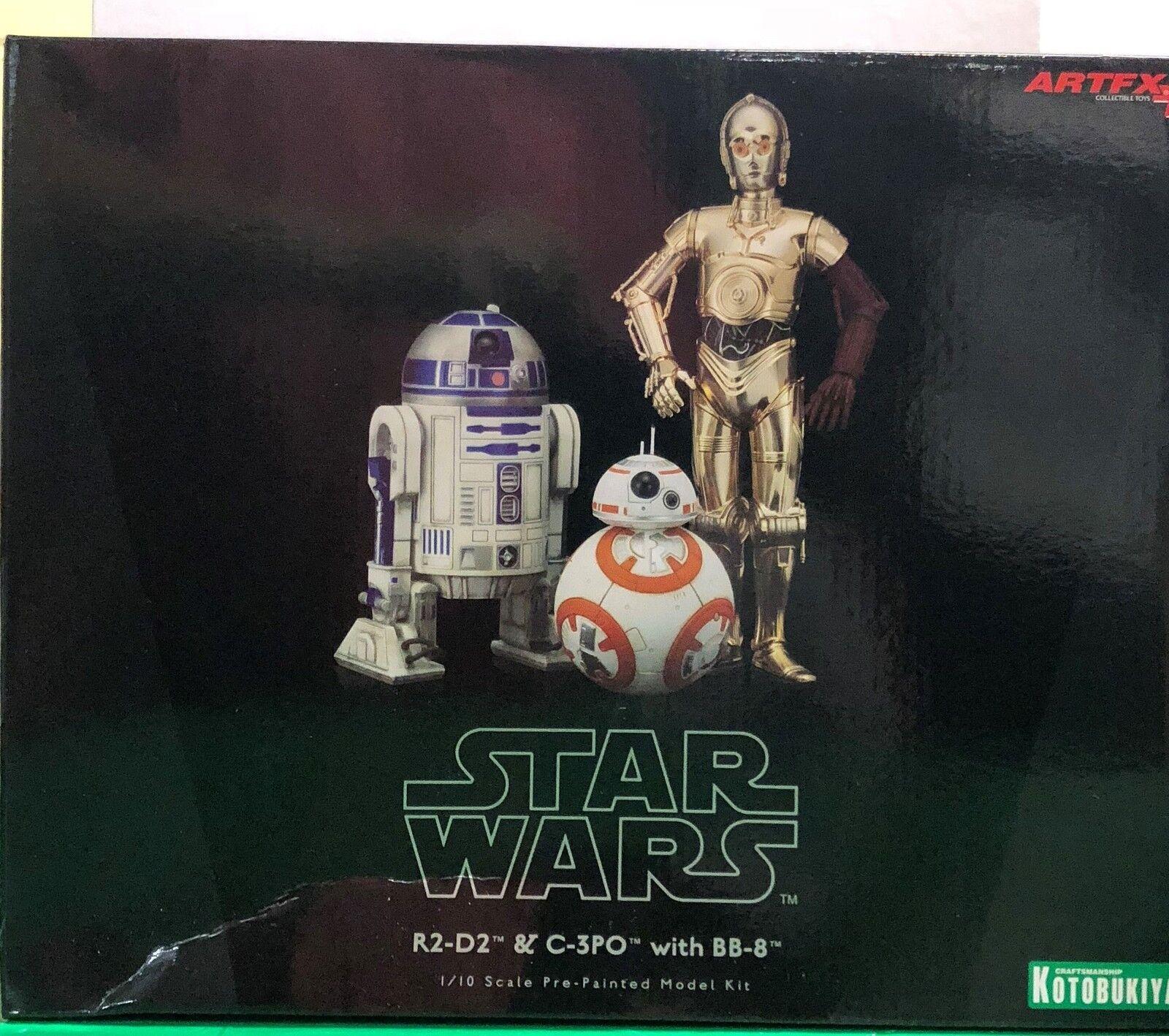 Kotobukiya - Star Star Star Wars - R2-D2, C-3PO (red arm) and BB-8 6bbba8